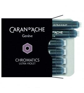 Cartucho Caneta Tinteiro Caran d'Ache Chromatics Ultra Violet C/6