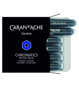 Cartucho Caneta Tinteiro Caran d'Ache Chromatics Idyllic Blue C/6