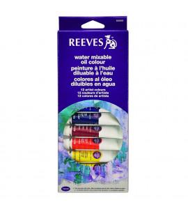 Tinta Óleo Solúvel em Água Reeves 12 Cores