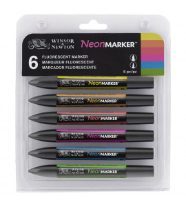 Marcador Promarker 06 Cores Tons Neon Winsor&Newton