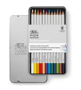 Lápis Winsor e Newton Aquarelável 12 Cores