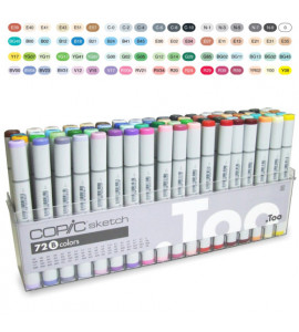 Caneta Copic Marker Sketch B 72 Cores