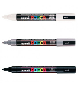 Caneta Posca Uni Ball PC-5M 03 Cores Tons Degradê