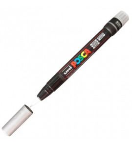 Marcador Posca Brush Pen PC-350 Prata