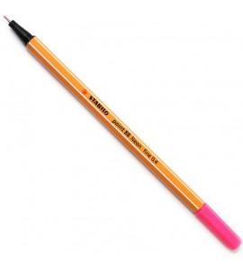 Caneta Point 88 Stabilo Neon 0.4mm 056 Rosa