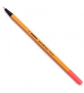 Caneta Point 88 Stabilo Neon 0.4mm 040 Vermelho
