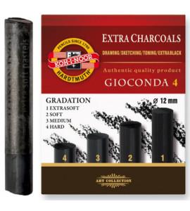 Carvão Para Desenho Koh I Noor Graduado 04 Durezas 8694