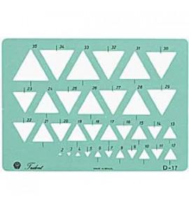 Gabarito Desenho Trident Triângulos D17