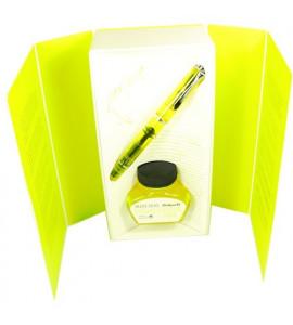 Caneta Tinteiro Pelikan Edição Especial Duo 205 Shiny Yellow