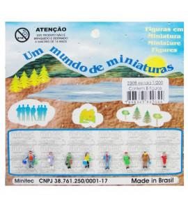 Figuras Para Maquetes 1/200 2308 Minitec 08 Peças