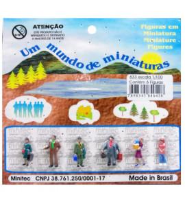 Figuras Para Maquetes 1/100 633 Minitec 06 Peças