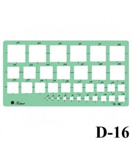 Gabarito Desenho Trident D-16 Quadrados