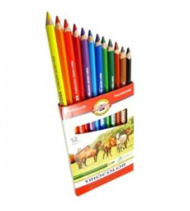 Lápis de Cor Triocolor 12 Cores