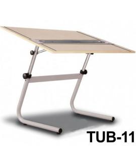 Mesa Para Desenho com Régua Paralela Tub 11 PA-120 Trident