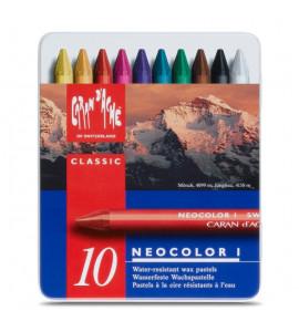 Pastel Oleoso Cara D'Ache Neocolor I 10 Cores
