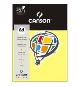 Papel Vivaldi Colorido A4 120g/m² 15 Folhas Amarelo Canário