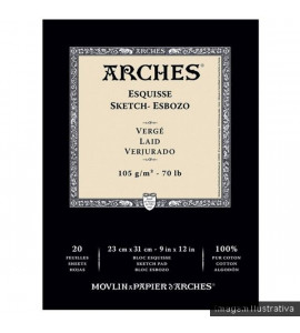 Bloco de Sketch Arches Canson 105g/m²