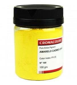 Pigmento Artístico Cromacolor Puro 100 Amarelo Cádmio Limão 100g