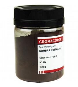 Pigmento Artístico Cromacolor Puro 114 Sombra Queimada 100g