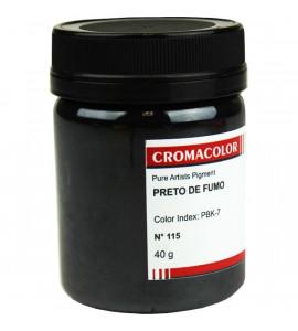 Pigmento Artístico Cromacolor Puro 115 Preto de Fumo 40g