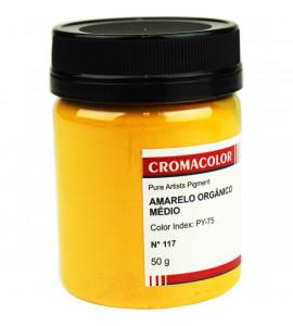 Pigmento Artístico Cromacolor Puro 117 Amarelo Orgânico Claro 50