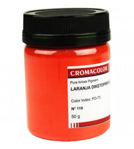 Pigmento Artístico Cromacolor Puro 119 Laranja Diketopirrole 50g