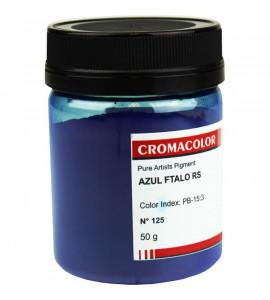 Pigmento Artístico Cromacolor Puro 125 Azul Ftalo RS 50g