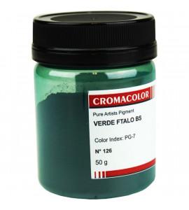 Pigmento Artístico Cromacolor Puro 126 Verde Ftalo BS 50g