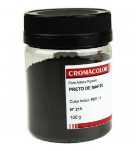 Pigmento Artístico Cromacolor Puro 215 Preto de Marte 100g