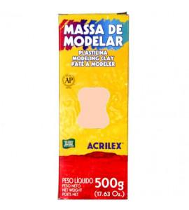 Massa de Modelar Acrilex 500g 518 Salmão