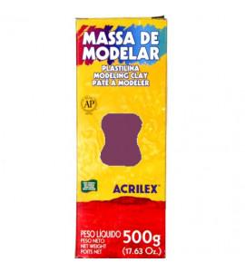 Massa de Modelar Acrilex 500g 508 Vermelho Escarlate