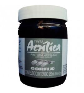 Tinta Acrílica Corfix 250ml 65 Preto G1