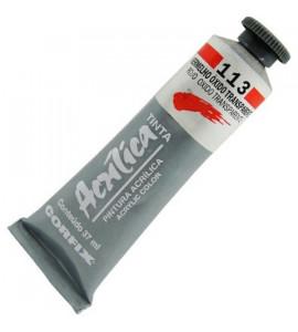 Tinta Acrílica Corfix 37ml 113 Vermelho Óxido Transparente