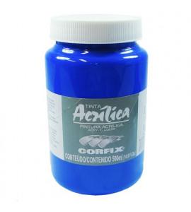 Tinta Acrílica Corfix 500ml 66 Azul Cobalto