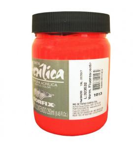 Tinta Acrílica Fluorescente Corfix 250ml 1013 Vermelho