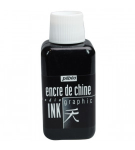 Tinta Nanquim Pebeo Preta 250ml