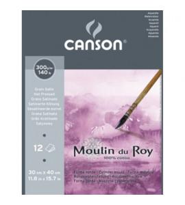 Bloco de Papel Para Aquarela Moulin du Roy 30x40cm TS