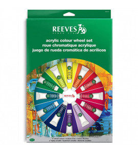 Estojo Tinta Acrílica Wheel Set Reeves C/18