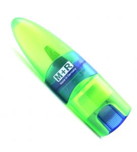Apontador Para Lápis com Reservatório e Borracha M+R Verde