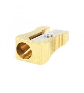 Apontador de Lápis Metal Dourado Clássico 0600