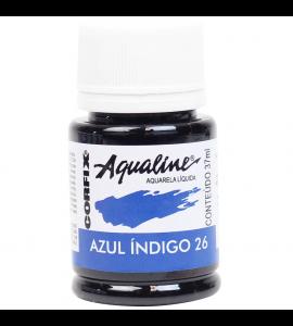 Aqualine Aquarela Líquida Corfix 26 Azul Indigo 37ml