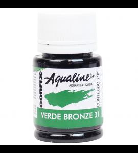 Aqualine Aquarela Líquida Corfix 31 Verde Bronze 37ml