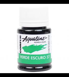Aqualine Aquarela Líquida Corfix 37 Verde Escuro 37ml