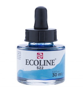 Tinta Ecoline Talens 30ml 522 Turquoise Blue