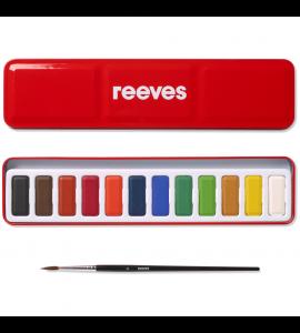 Tinta Aquarela Reeves Pastilha 12 Cores