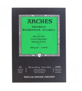 Bloco de Papel Para Aquarela Arches Canson TF 300g/m² 23x31cm
