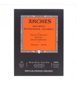 Bloco de Papel Para Aquarela Arches Canson TT 300g/m² 23x31cm 12