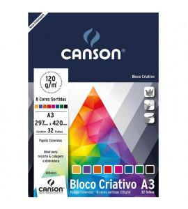 Bloco Criativo Cards 120g/m² A3 Canson