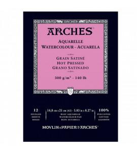 Bloco de Papel para Aquarela Arches TS 300g/m² 14,8x21cm C/12 Fohas