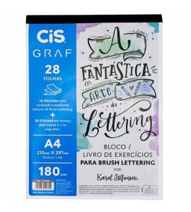 Bloco CIS de Exercícios Para Lettering A4 180g/m²